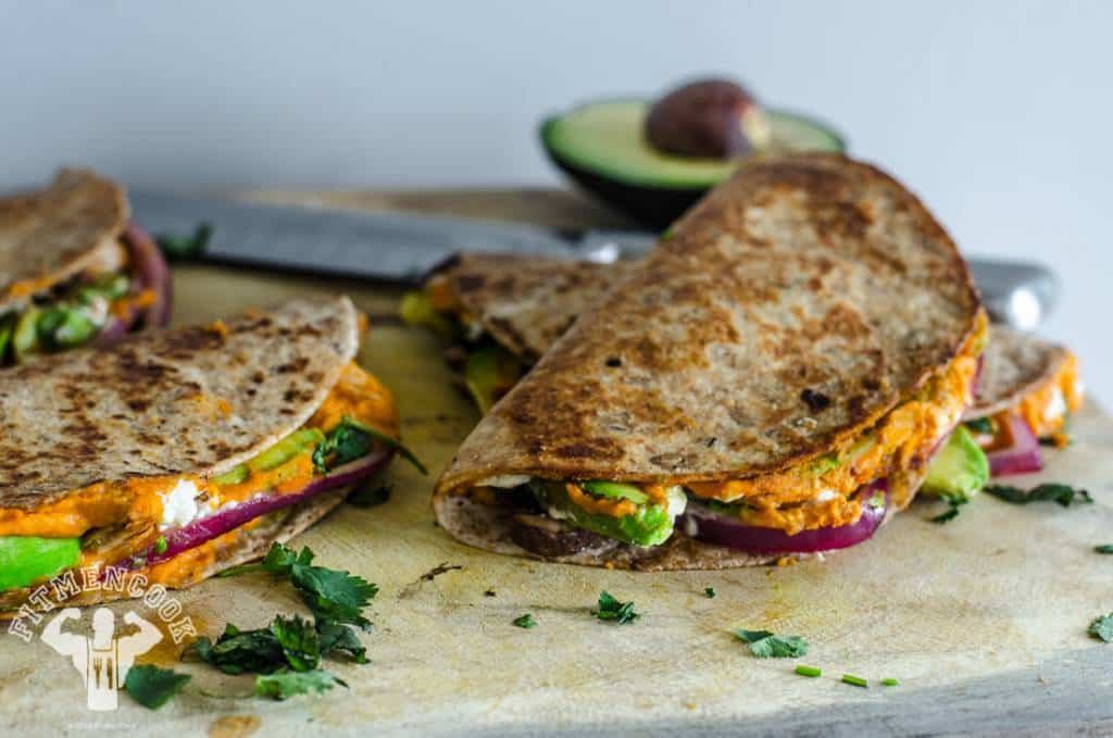 Time For Healthy Hummus Quesadillas by Fit Men Cook